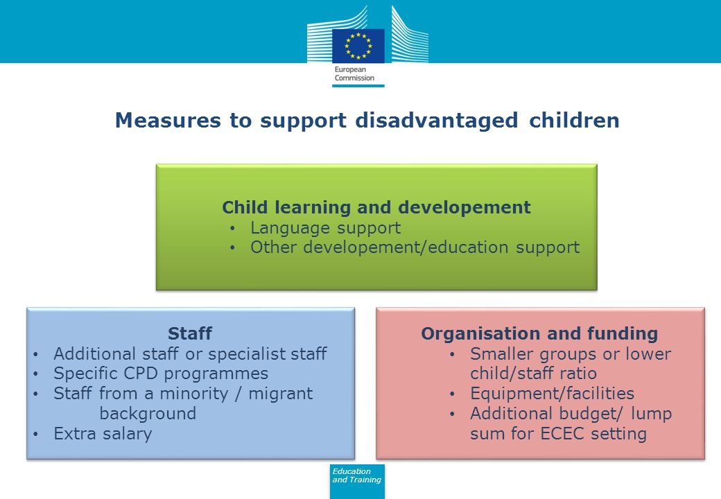 Measures to support disadvantaged children