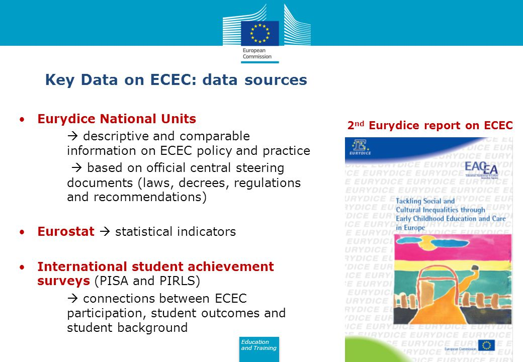 Key Data on ECEC: data sources