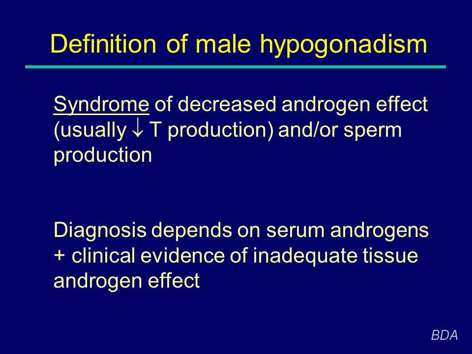 Definition of male hypogonadism