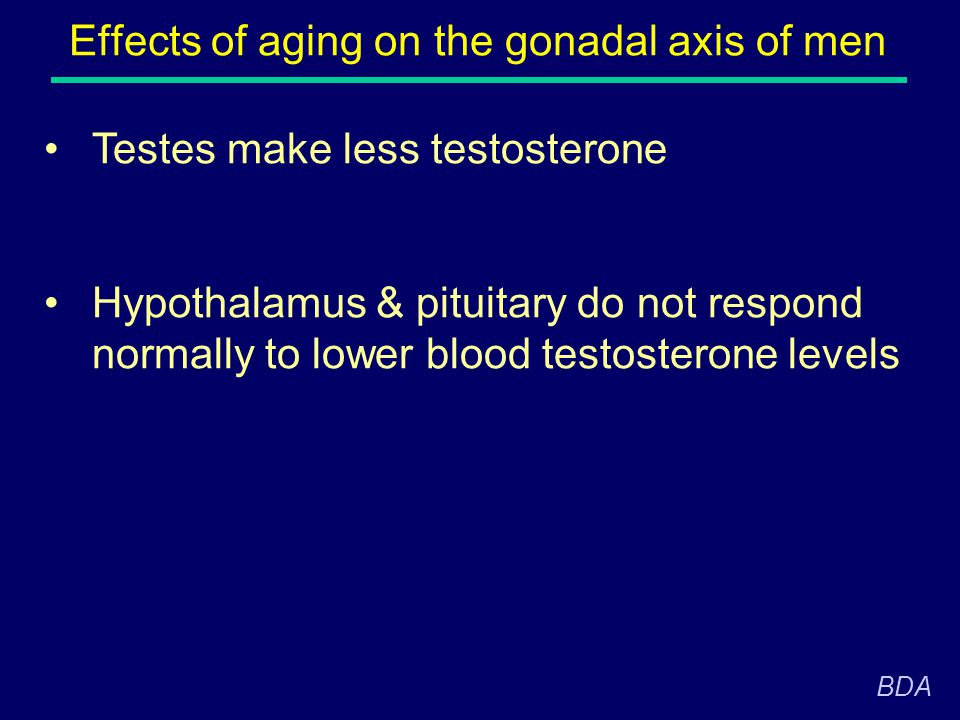 Effects of aging on the gonadal axis of men