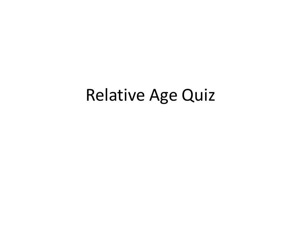 Relative Age Quiz