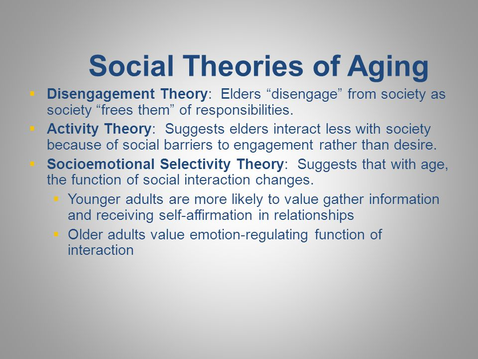 Social Theories of Aging