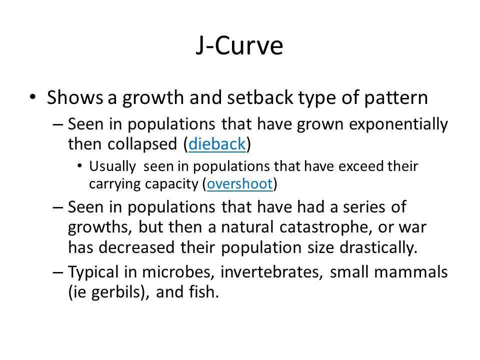 J-Curve Shows a growth and setback type of pattern