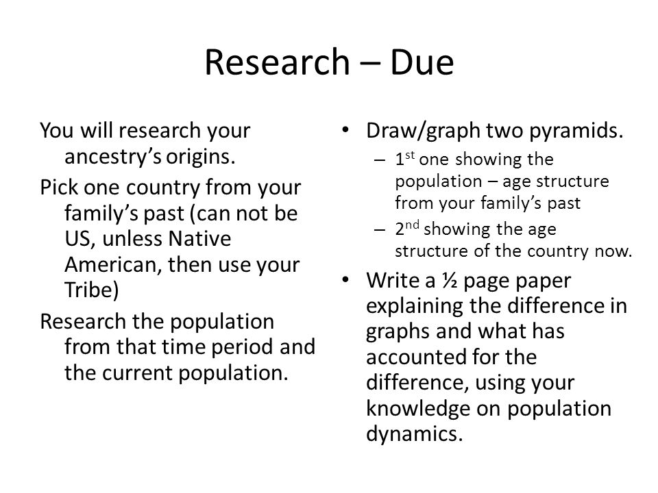 Research – Due