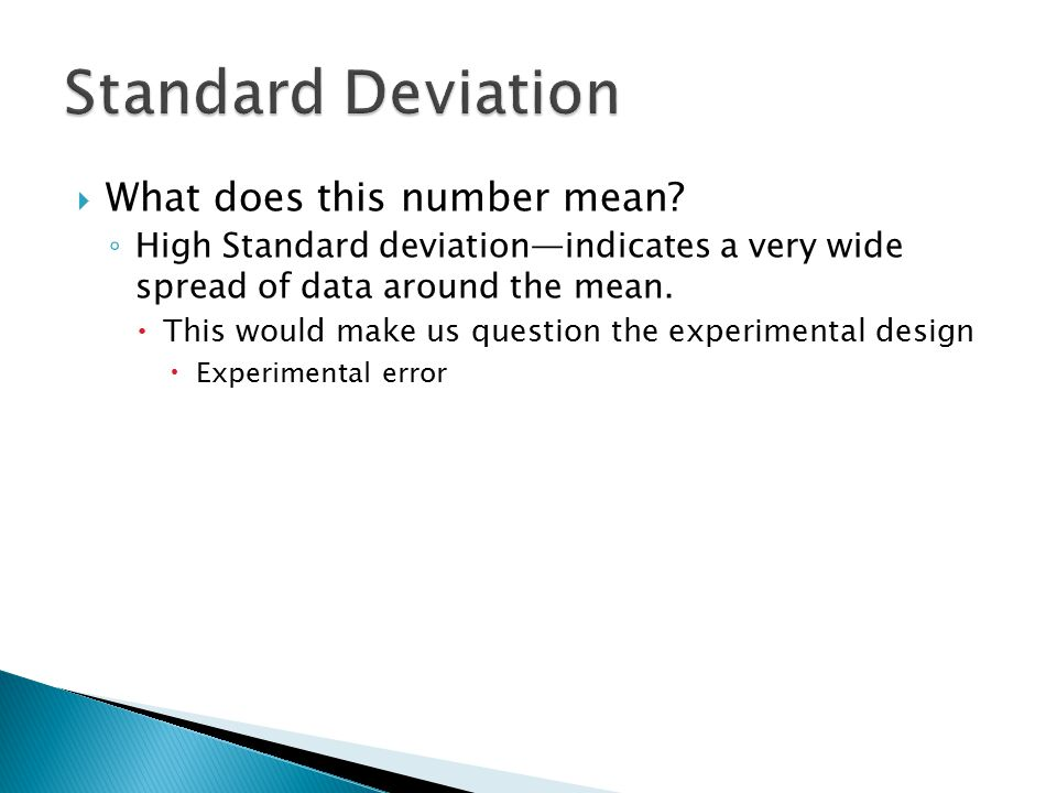 Standard Deviation What does this number mean