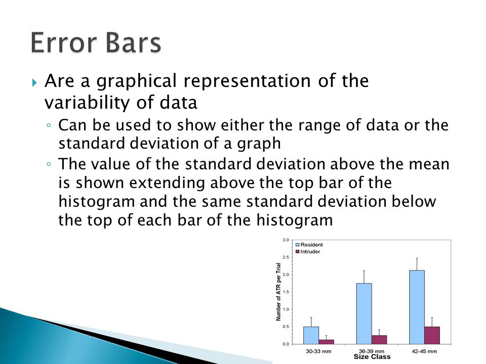 Error Bars Are a graphical representation of the variability of data