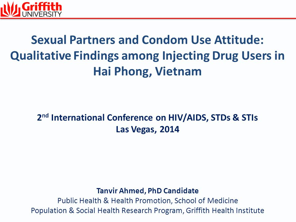 Sexual Partners and Condom Use Attitude: Qualitative Findings among Injecting Drug Users in Hai Phong, Vietnam