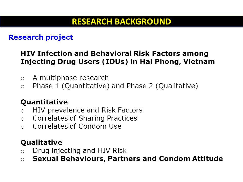 RESEARCH BACKGROUND Research project