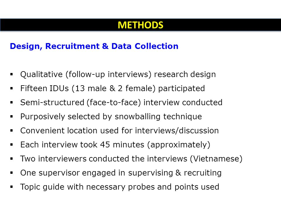 METHODS Design, Recruitment & Data Collection