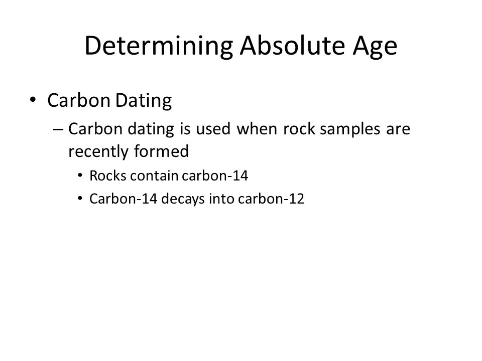 Determining Absolute Age