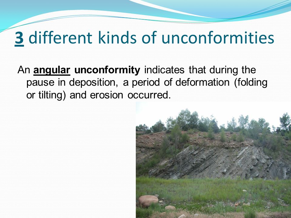 3 different kinds of unconformities