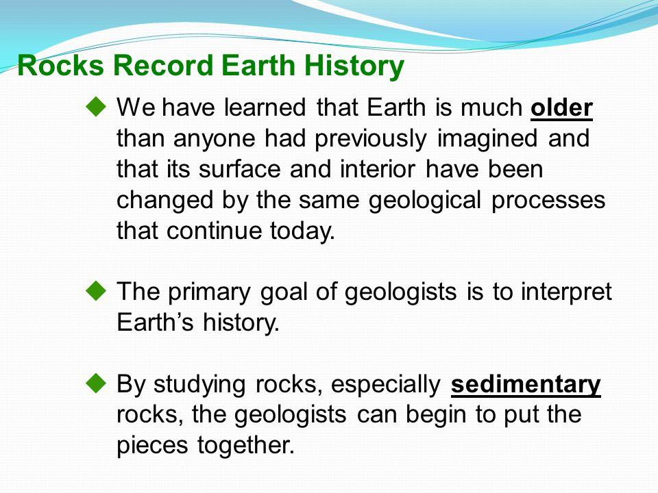 Rocks Record Earth History