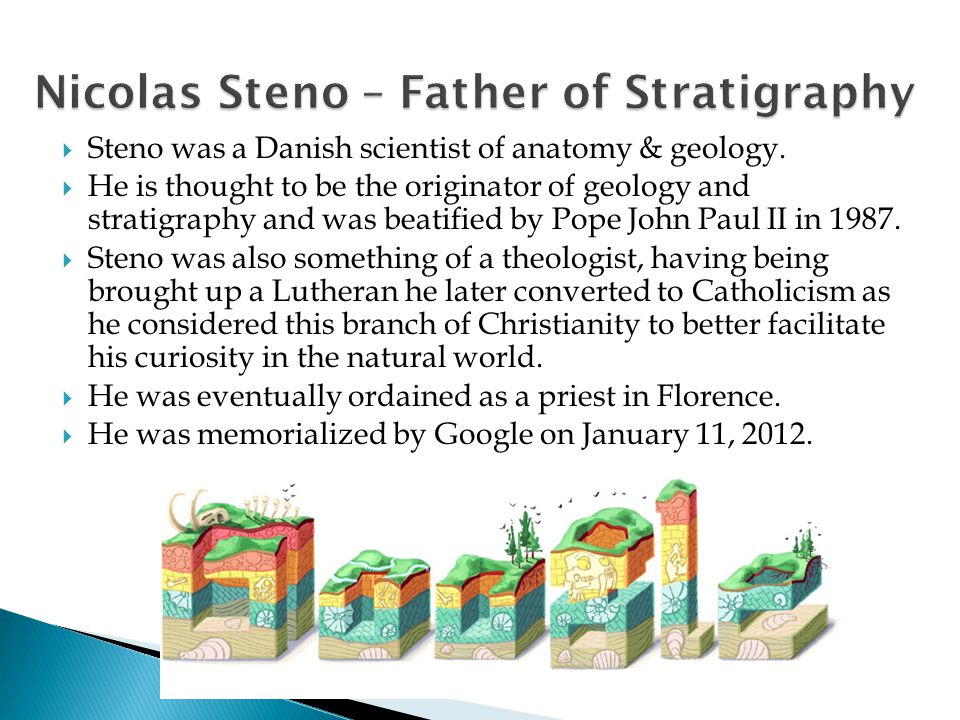 Nicolas Steno – Father of Stratigraphy