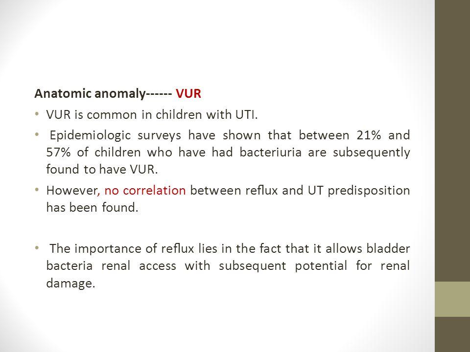 Anatomic anomaly------ VUR