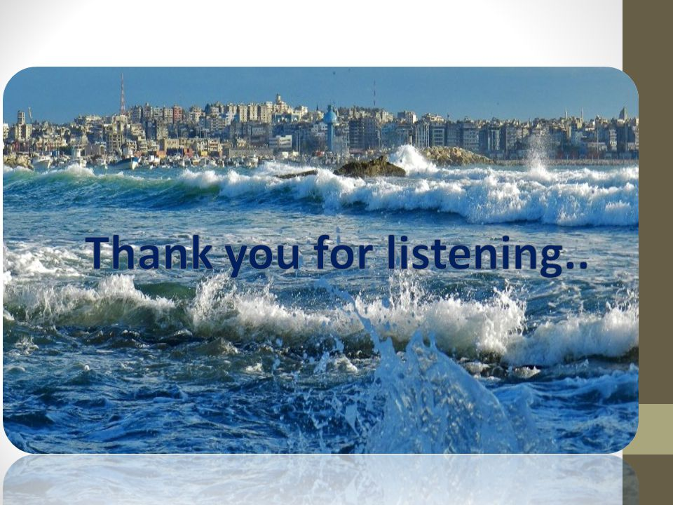 Thank you for listening..