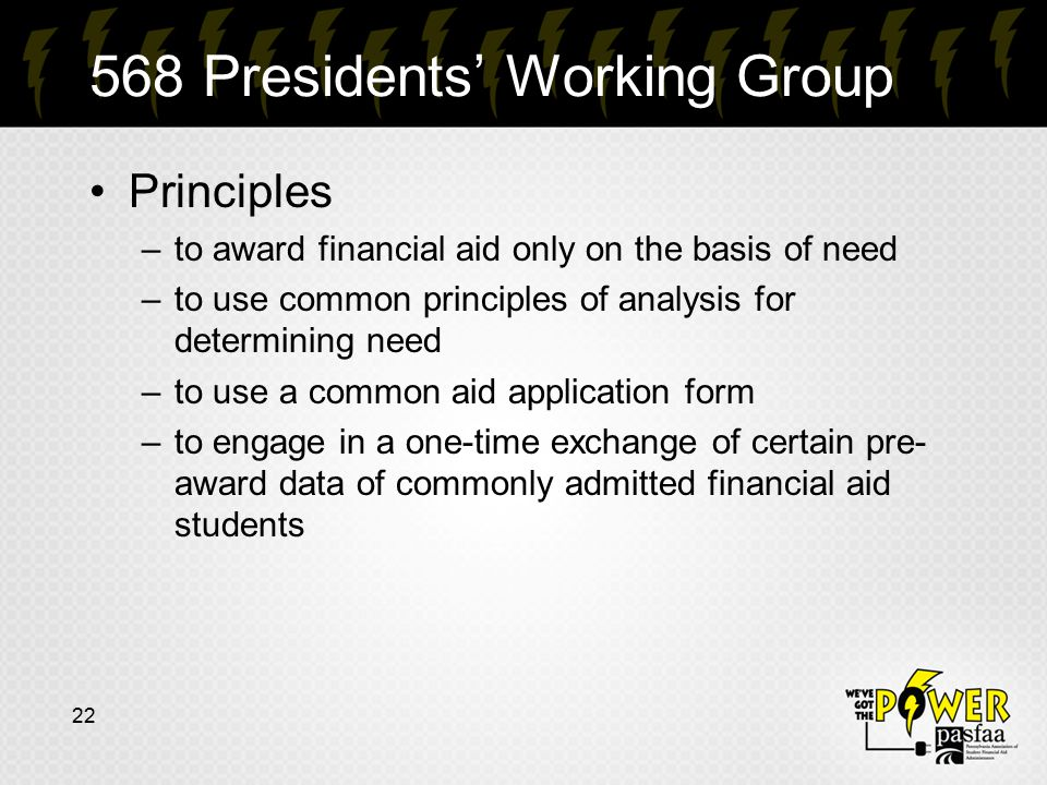 568 Presidents' Working Group
