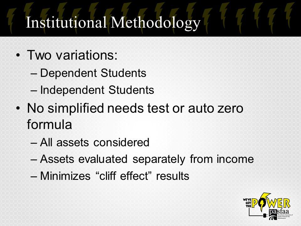 Institutional Methodology