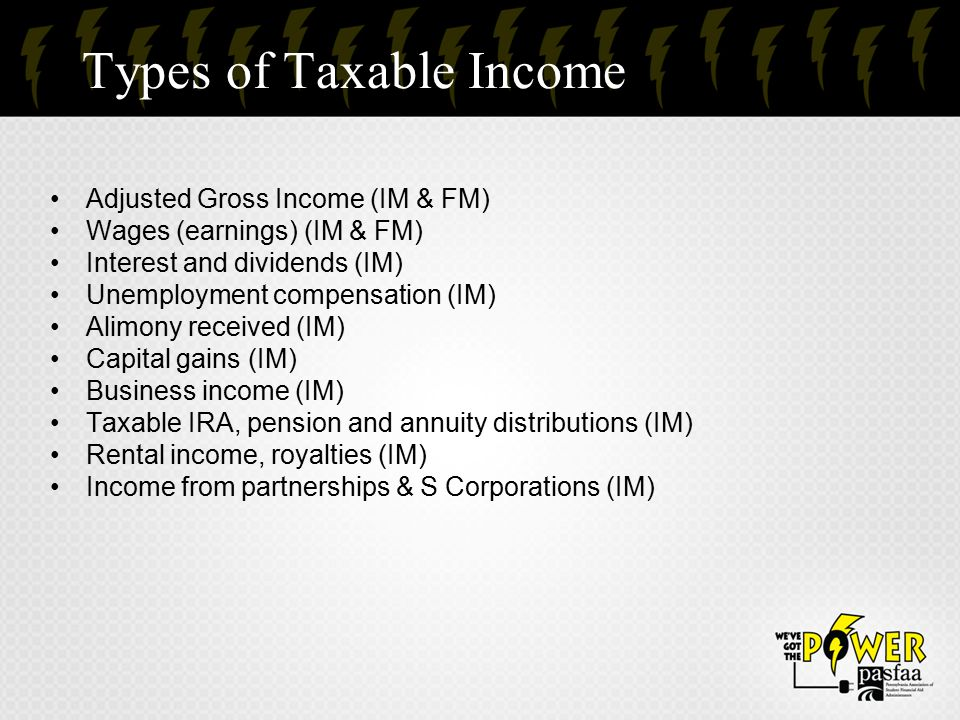 Types of Taxable Income