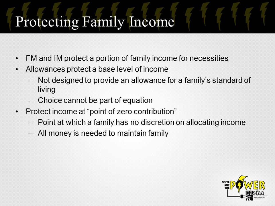 Protecting Family Income