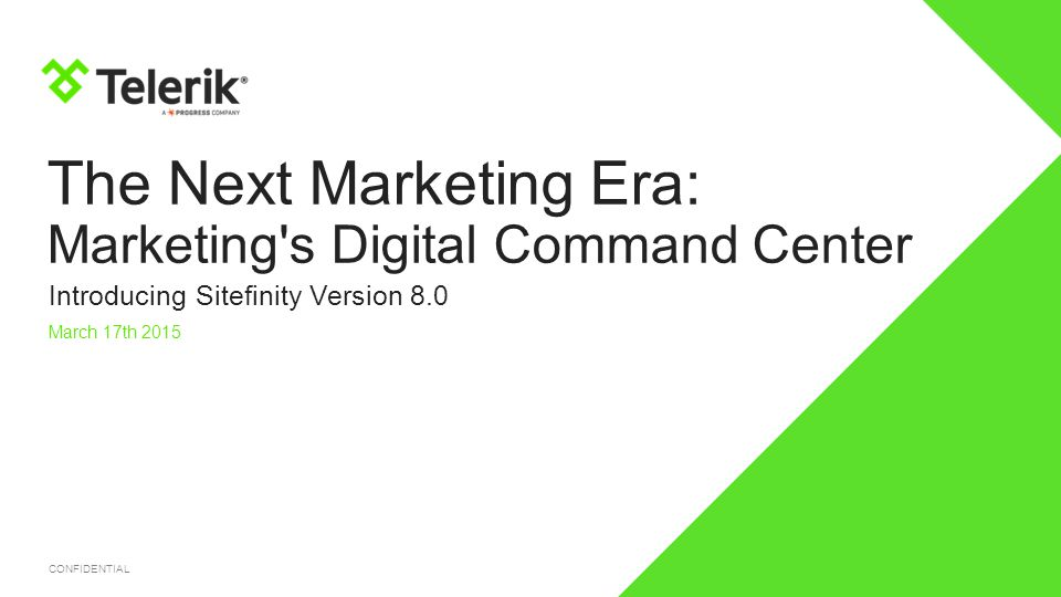 The Next Marketing Era: Marketing s Digital Command Center