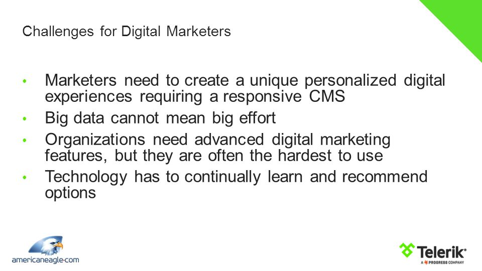 Challenges for Digital Marketers