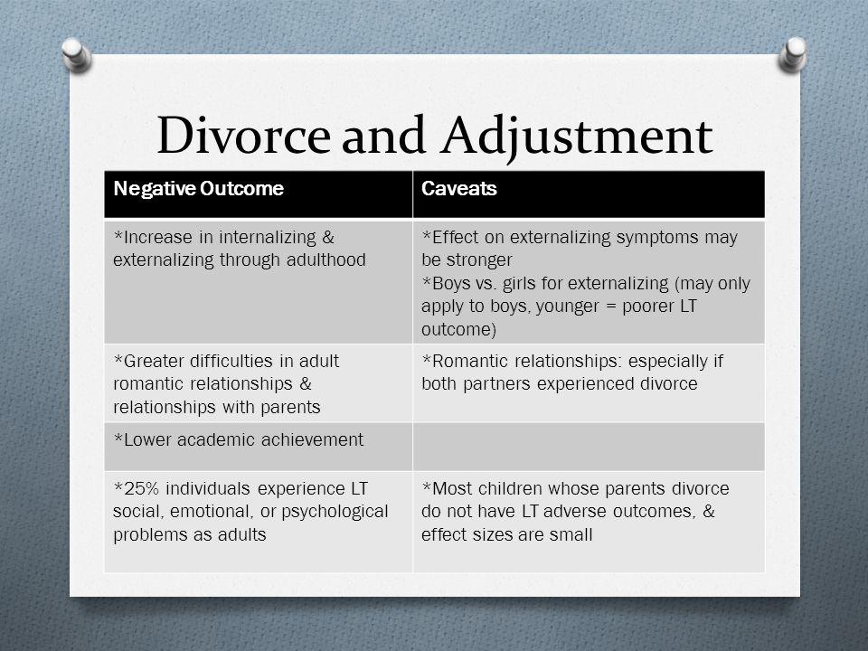 Divorce and Adjustment