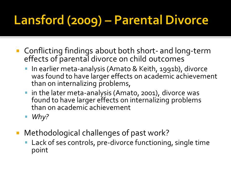 Lansford (2009) – Parental Divorce
