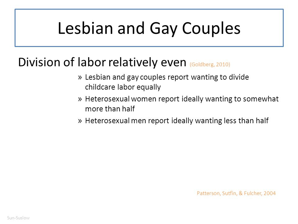 Lesbian and Gay Couples