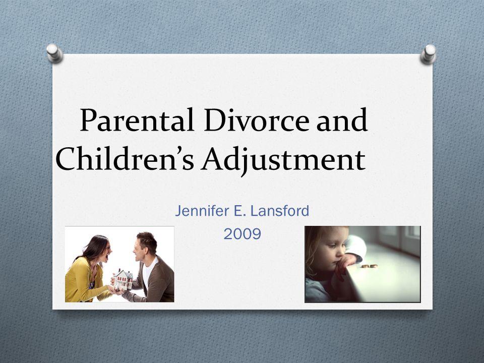 Parental Divorce and Children's Adjustment