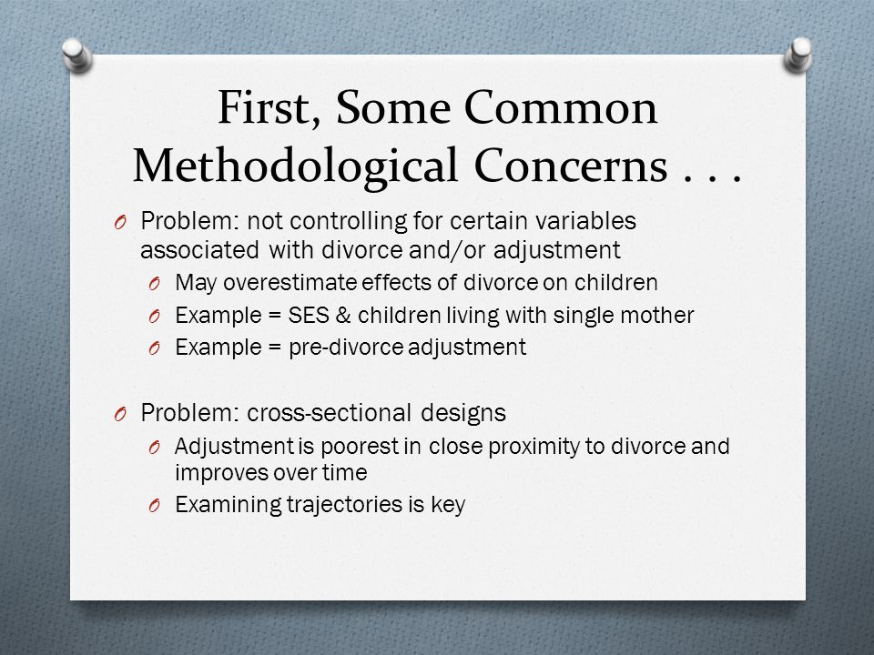 First, Some Common Methodological Concerns . . .