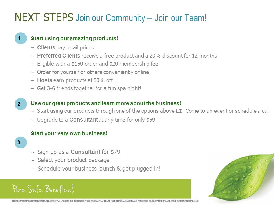 NEXT STEPS Join our Community – Join our Team!