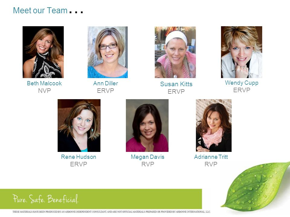 Meet our Team… NVP ERVP Susan Kitts ERVP ERVP ERVP RVP RVP