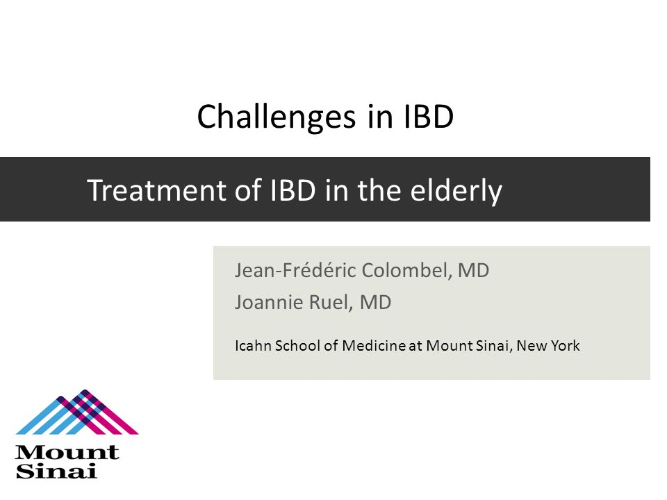 Treatment of IBD in the elderly