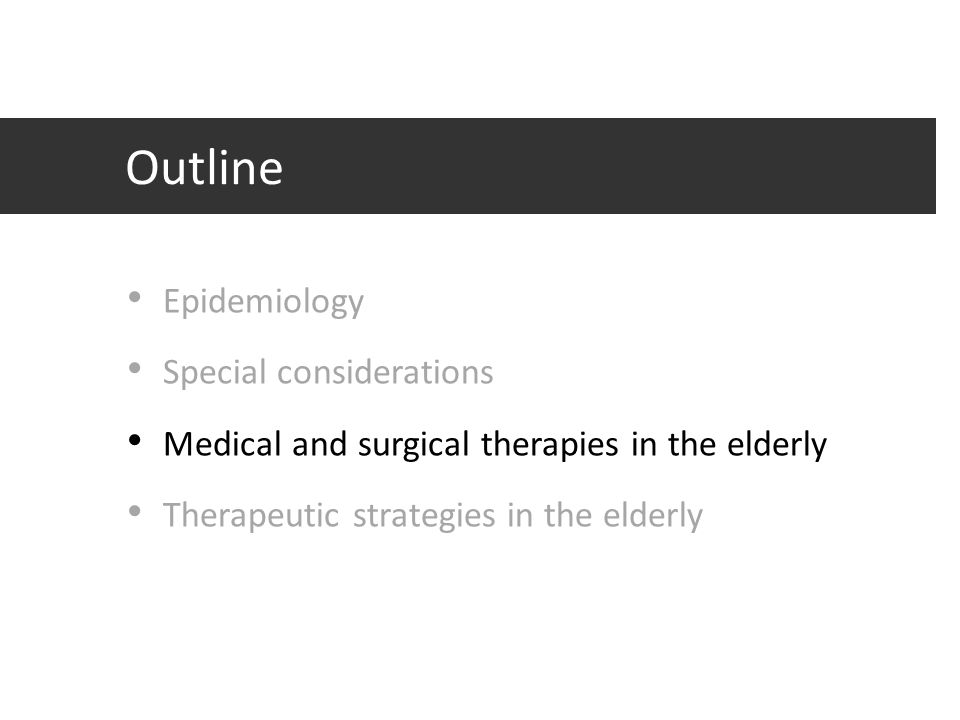 Outline Epidemiology Special considerations