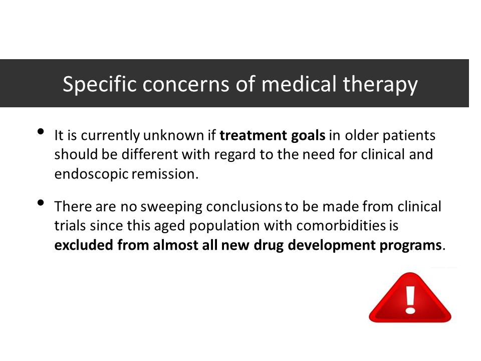 Specific concerns of medical therapy