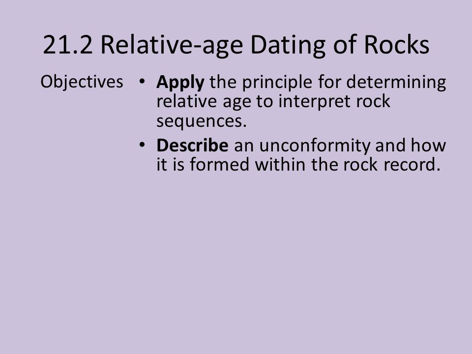 21.2 Relative-age Dating of Rocks
