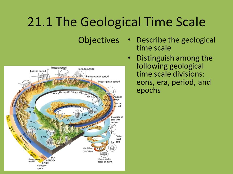 21.1 The Geological Time Scale