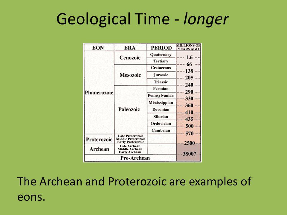 Geological Time - longer