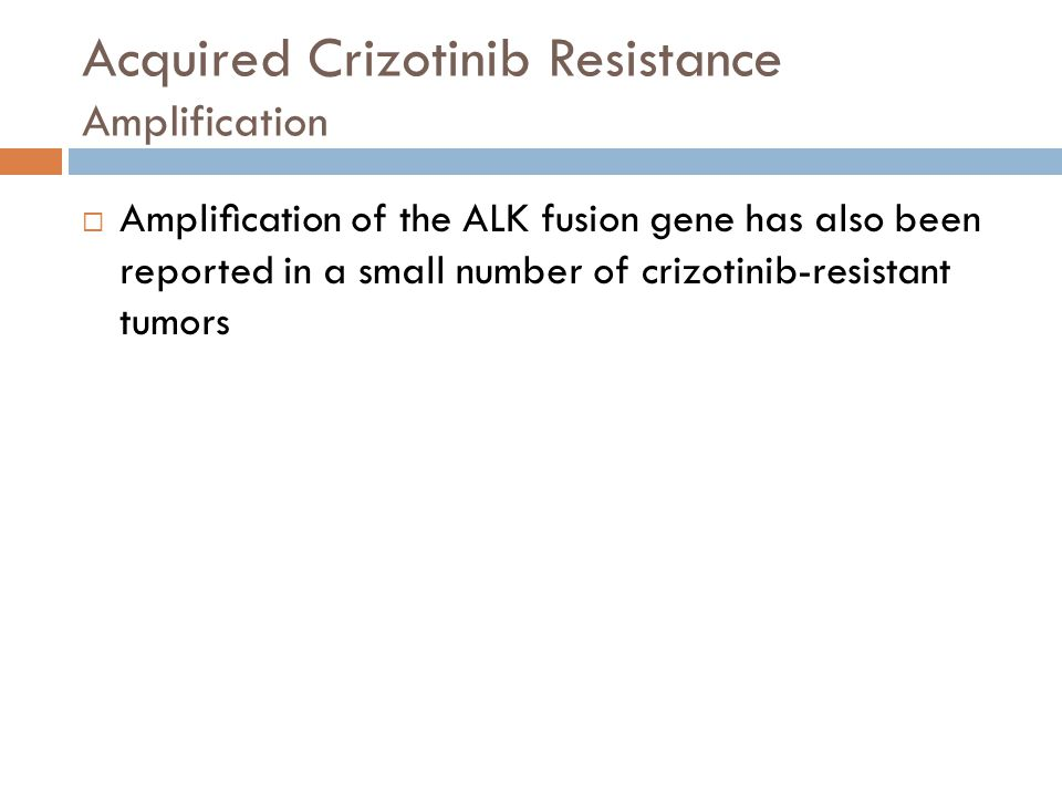 Acquired Crizotinib Resistance Amplification