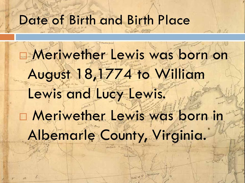 Date of Birth and Birth Place