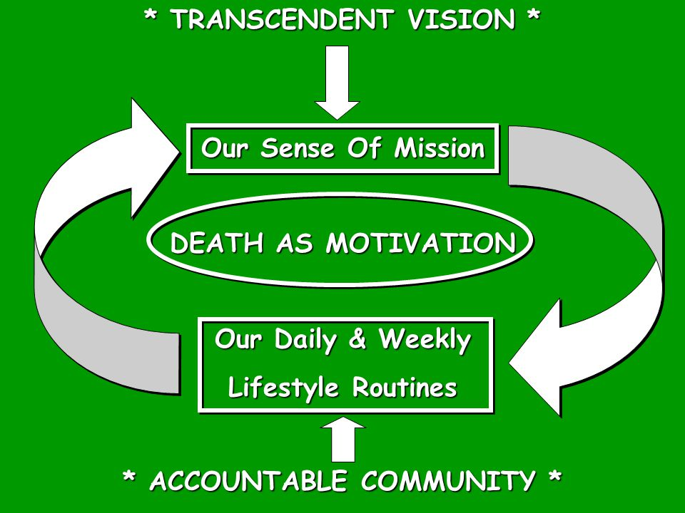 * TRANSCENDENT VISION * * ACCOUNTABLE COMMUNITY *