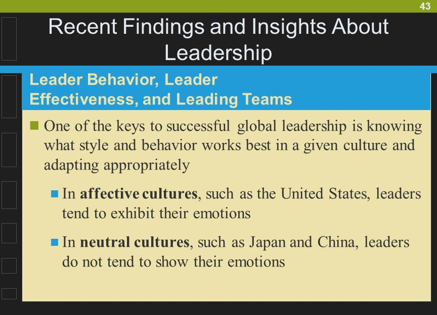 Recent Findings and Insights About Leadership