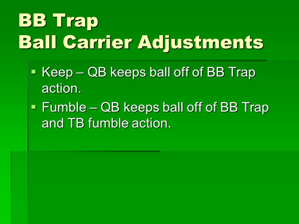 BB Trap Ball Carrier Adjustments