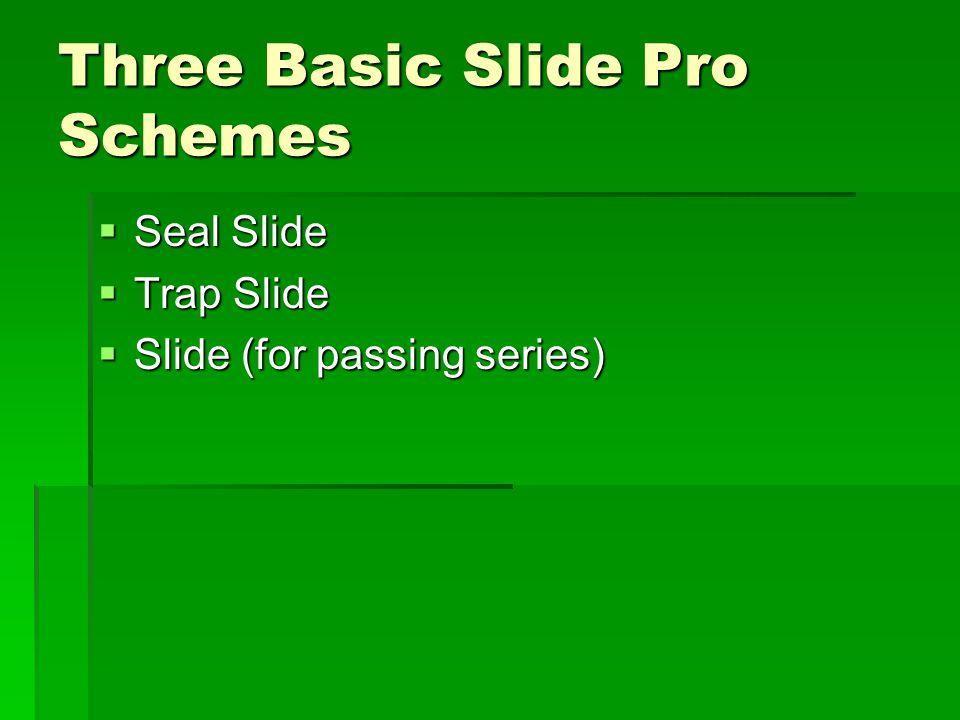Three Basic Slide Pro Schemes