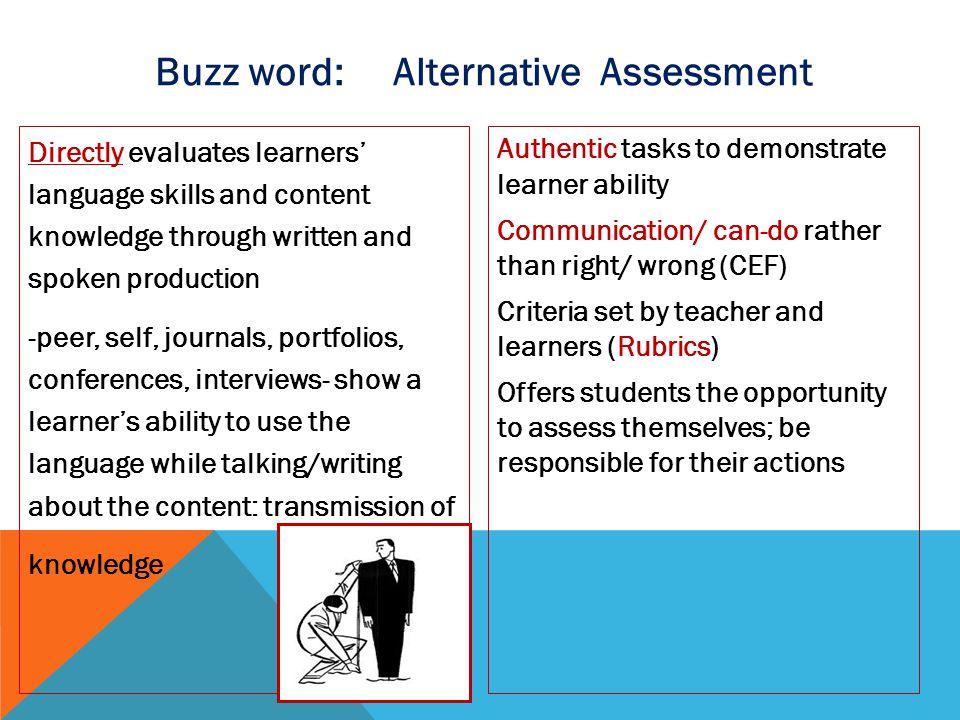 Buzz word: Alternative Assessment