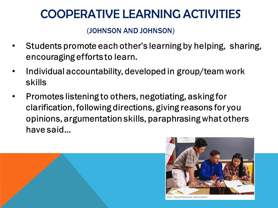 Cooperative Learning Activities (Johnson and Johnson)