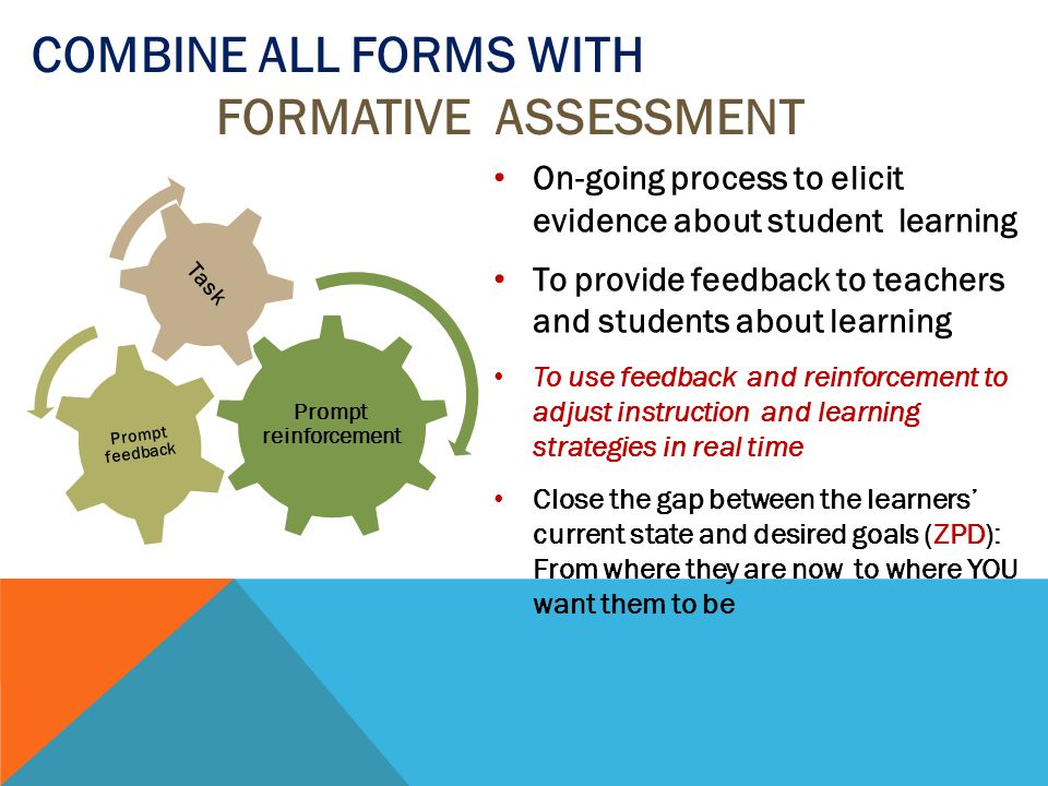 Combine all forms with Formative Assessment
