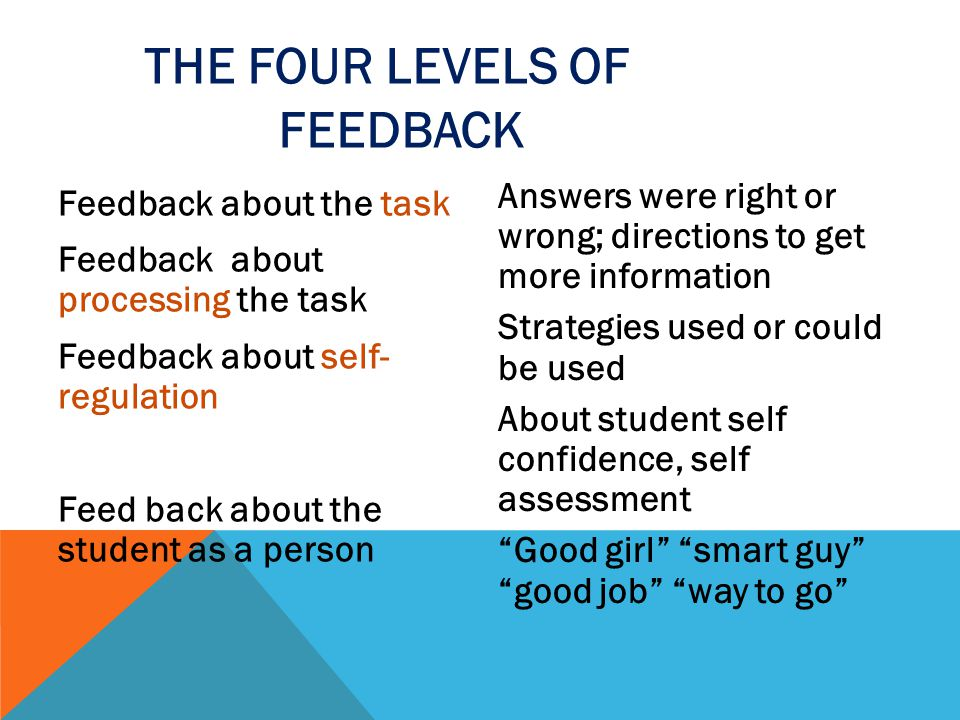 The Four Levels of feedback