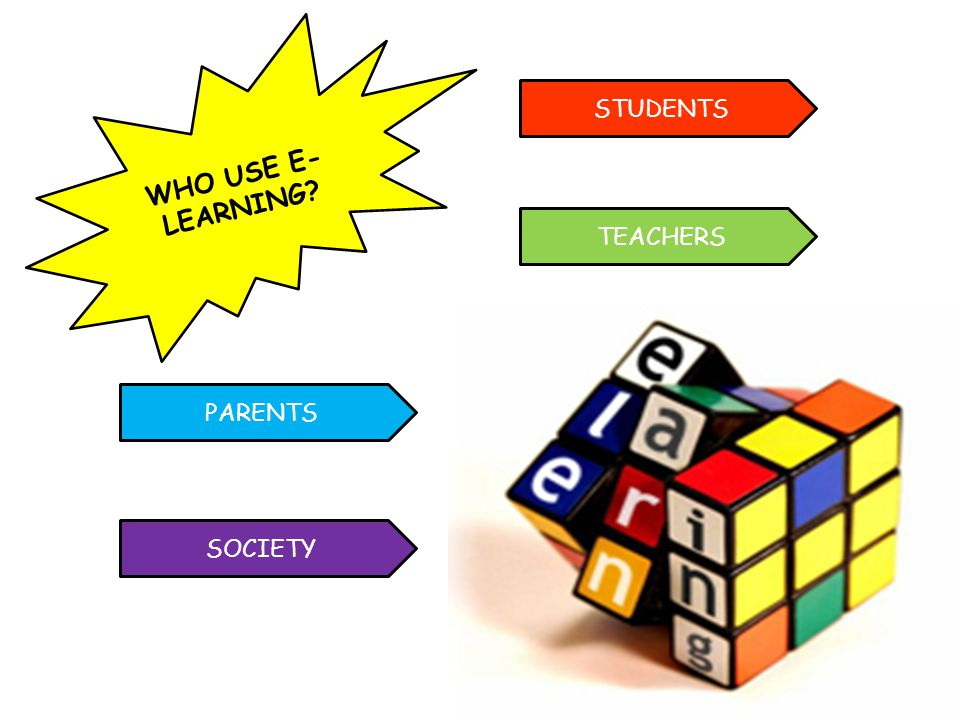 WHO USE E-LEARNING STUDENTS TEACHERS PARENTS SOCIETY