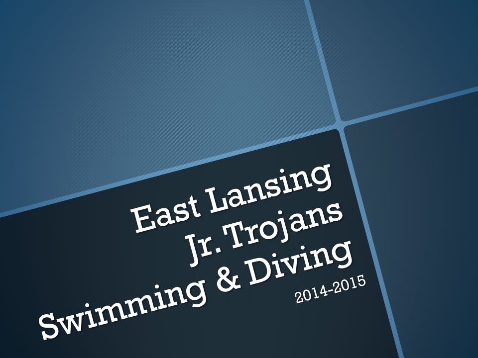 East Lansing Jr. Trojans Swimming & Diving